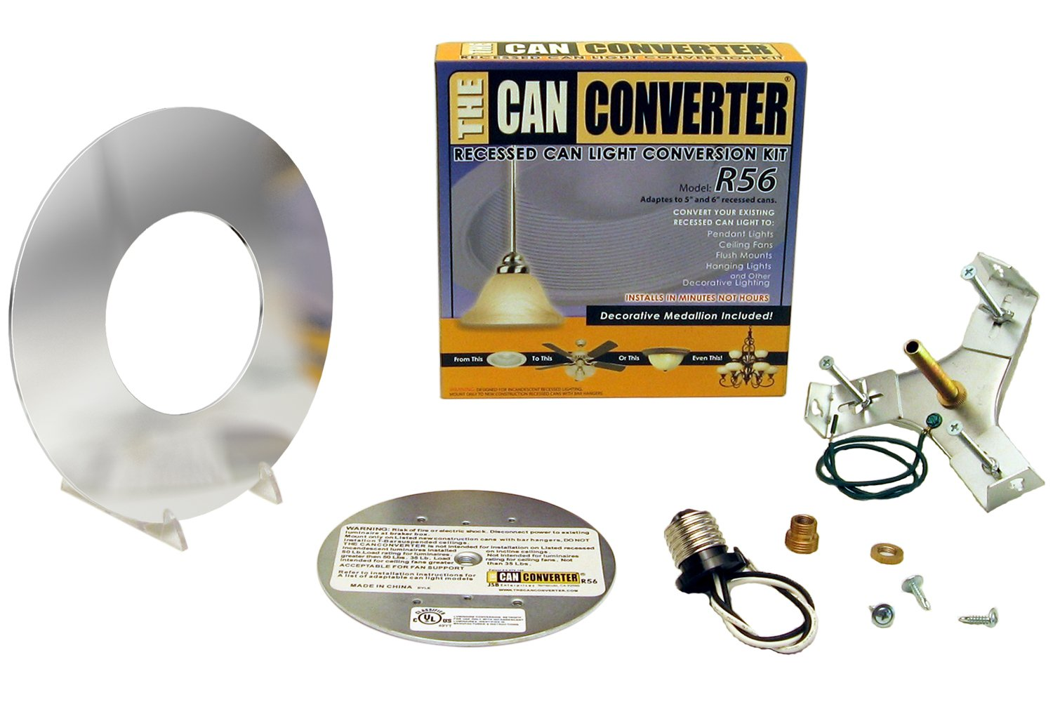 Oil Rubbed Bronze Recessed Can Light Converter Kit for 5 and 6 Recessed Can Lights