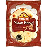Mission Foods Plain Naan Bread 4 Pack, 280.0 g