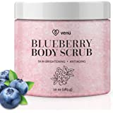 Body Scrub - Daily Exfoliating Treatment to Brighten Skin - Anti-Aging, Anti-Microbial and Anti-Inflammatory Properties - For Varicose and Spider Veins and More - By Venu
