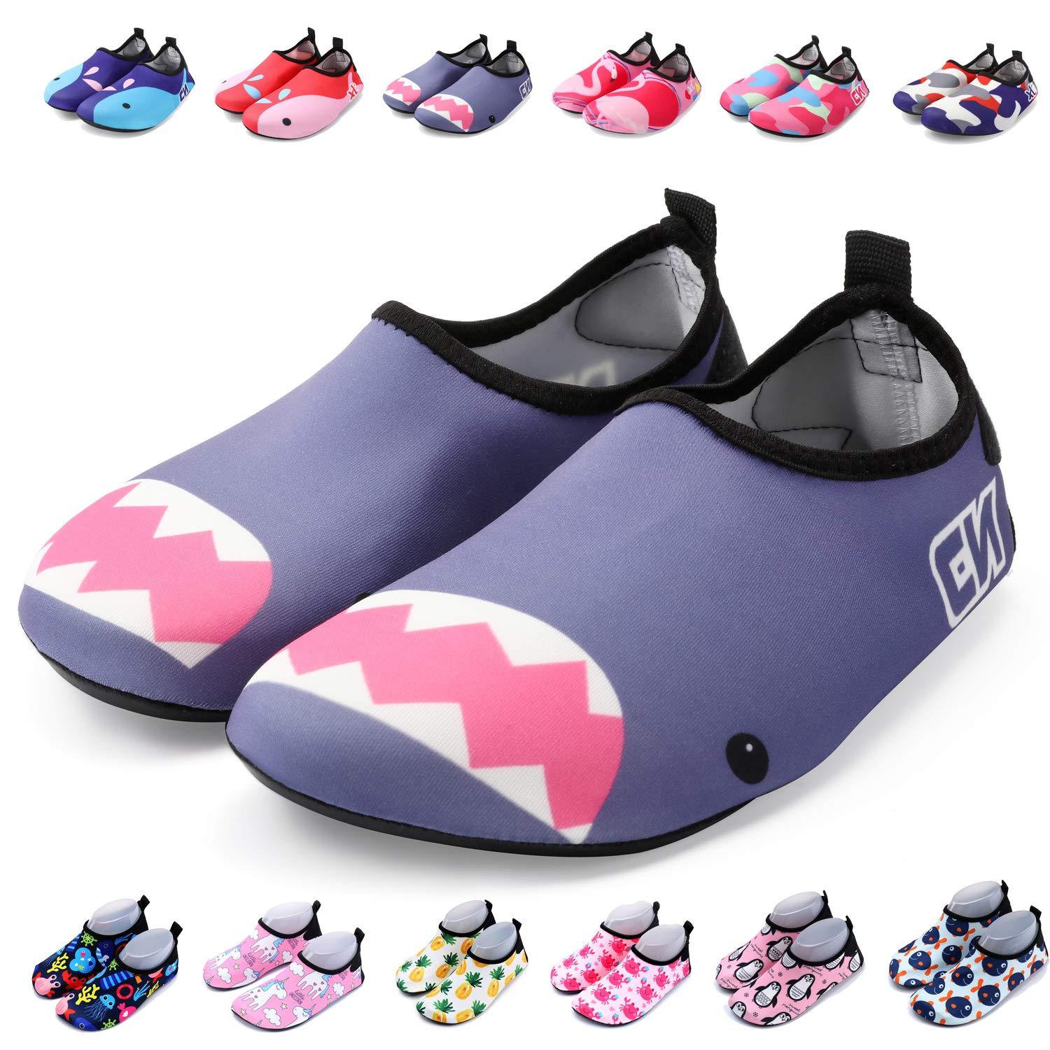 134a173f7 Galleon - Bridawn Kids Water Shoes Toddler Swim Shoes Quick Dry Non-Slip  Barefoot Aqua Socks For Beach Pool