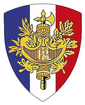Aufkleber Wappen Frankreich Ausschnitt Mit Emblem Amazonde