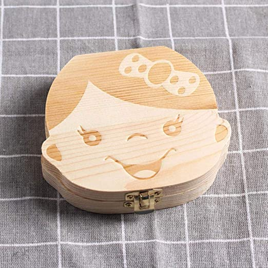 Caja de dientes de leche para bebés Aomerrt Caja de almacenamiento ...