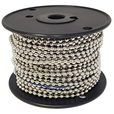 Ball Chain Number 10 Spool Nickel Plated Steel 100 Feet: Home Improvement [5Bkhe1512487]