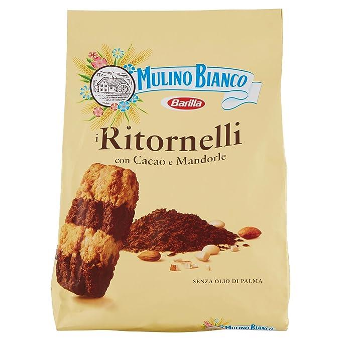 Mulino Bianco Biscotti Frollini Ritornelli con Cacao e Mandorle, 700 gr