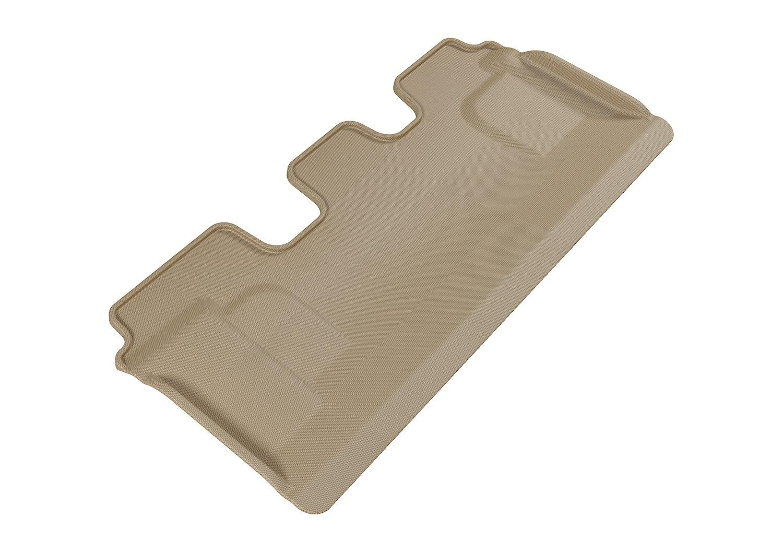 L1LX03731502 3D MAXpider Third Row Custom Fit All-Weather Floor Mat for Select Lexus LX570 Models Kagu Rubber Tan