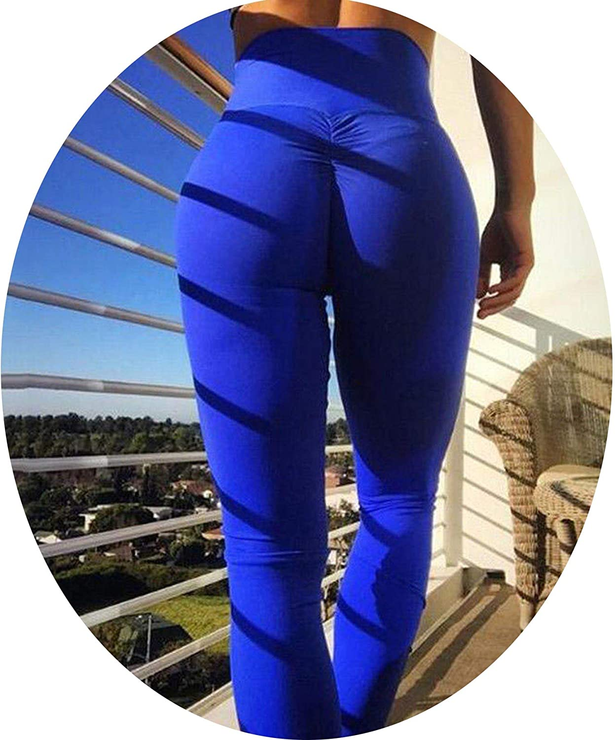 Amazon.com: Gym Leggings Sport Fitness Yoga Pants High Waist ...