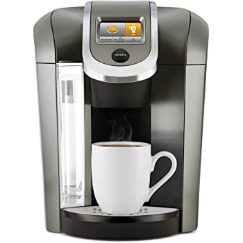 keurig k575 single serve k cup pod coffee maker with 12oz brew size strength control and hot water on demand programmable platinum