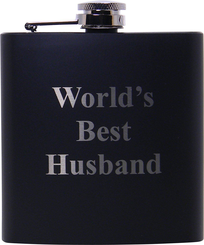 【送料無料キャンペーン?】 世界最高の夫6オンスブラックフラスコ – – 父の日のプレゼント、バレンタインデー、記念日、誕生日やクリスマスプレゼントを夫、Dad B01D3THFS4, Detailsbymonosapiens:ed4066e6 --- refer.officeporto.com