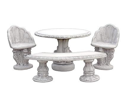 Massive Table de Jardin Meubles de Jardin Banc Chaises en Pierre au ...