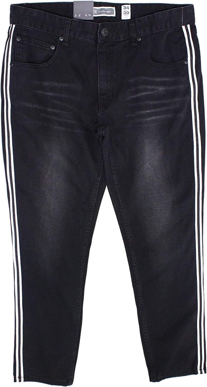 INC International Concepts Men's Side-Stripe Skinny Jeans
