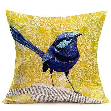 Amazon.com: YANGYULU - Funda de cojín para sofá, diseño de ...