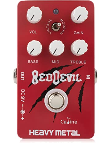 Caline Red Devil Pedals CP-30 Guitar Effects Modern Heavy Distortion Dual Overdrive Pedal Guitarist