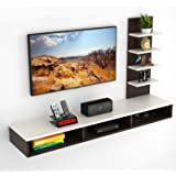 "Bluewud Primax TV Entertainment Wall Unit/Set Top Box Stand (Ideal for up to 42"") (Standard)"