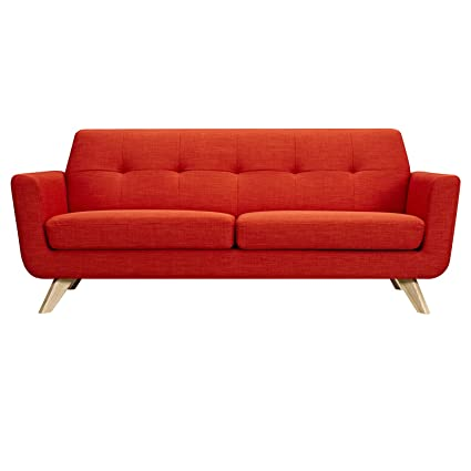 amazon com nyekoncept 224467 a retro orange dania sofa natural rh amazon com Scandinavian Sofa Dania Furniture