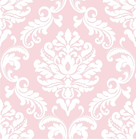 Nuwallpaper Pink Ariel Peel And Stick Wallpaper Amazon Co Uk Kitchen Home