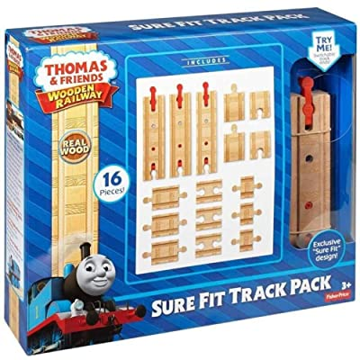 Fisher-Price Thomas & Friends Wooden Railway, Sure-Fit Track Pack: Toys & Games