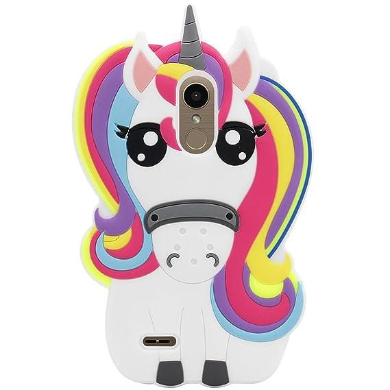 innovative design b591e cfcea Amazon.com: Rainbow Unicorn Case for LG Fortune 2,Aristo 2 X210,Cute ...