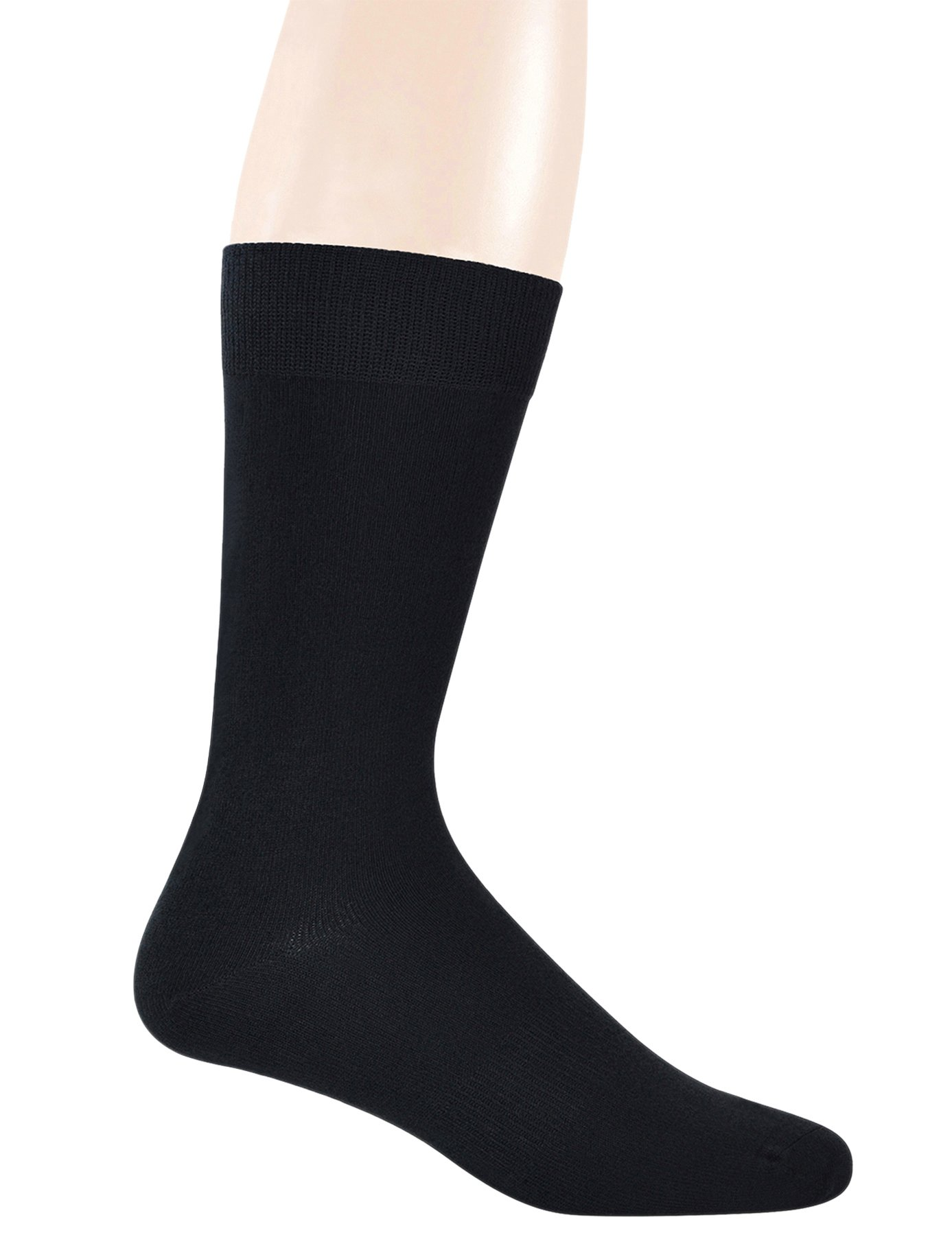 Yomandamor 5 Pairs Men's Bamboo Crew Dress Socks with Arch Support and Seamless Toe