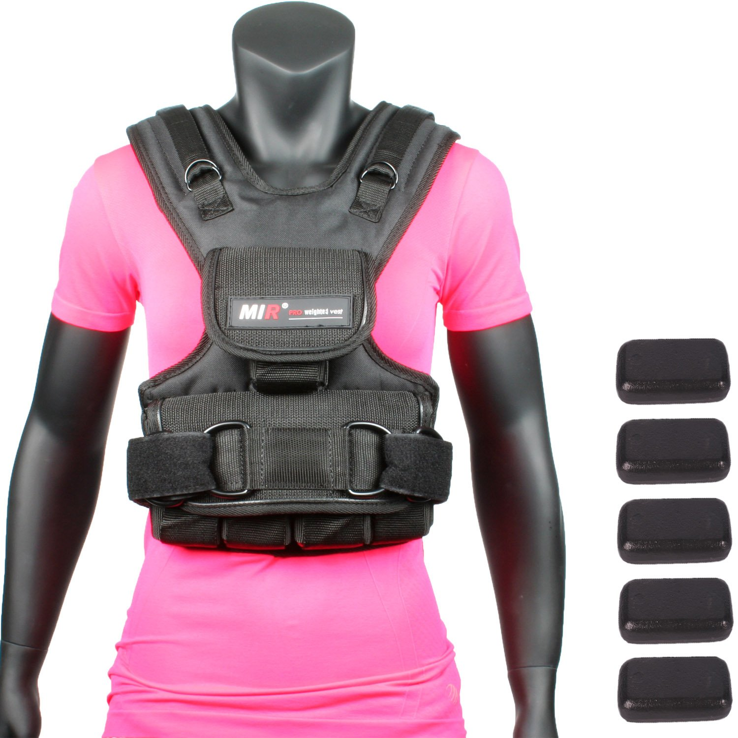 Mir Womens Adjustable Weighted Vest (10lbs - 50lbs) (10)