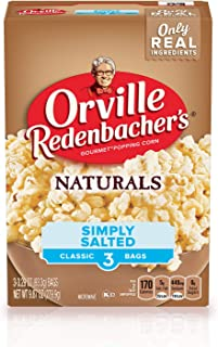 product image for Orville Redenbacher's Naturals Simply Salted Popcorn, 3.29 Ounce Classic Bag, 3-Count, Pack of 12