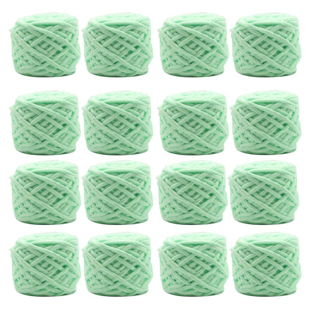 16糸かせ、編み物編みのためのクラフト糸毛布大きなボール,Lightgreen B07KFJDKF8 LightGreen