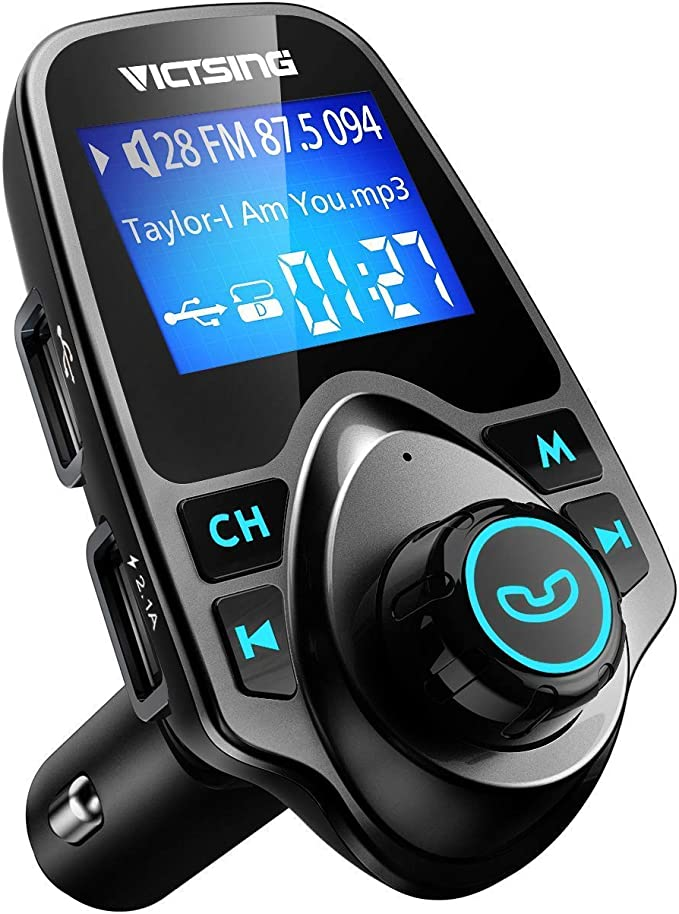 BT Car FM Transmitter AUX Wireless Radio Adapter USB Charger Mp3 Player