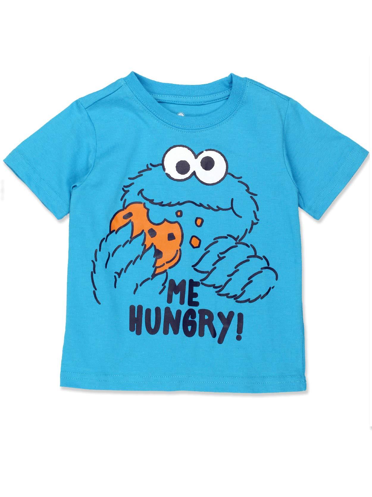 Sesame Street Cookie Monster Baby Toddler Boys Short Sleeve Tee (2T, Blue) by Sesame Street