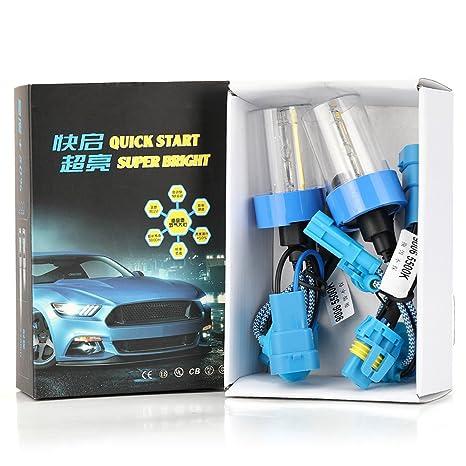 Zanteca - 1 par de bombillas LED para faros delanteros 9006/HB4 para coche,