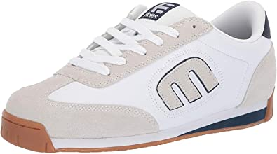 Etnies Lo Cut 2 LS White Navy Gum Mens Suede Skate Trainers Shoes Boots