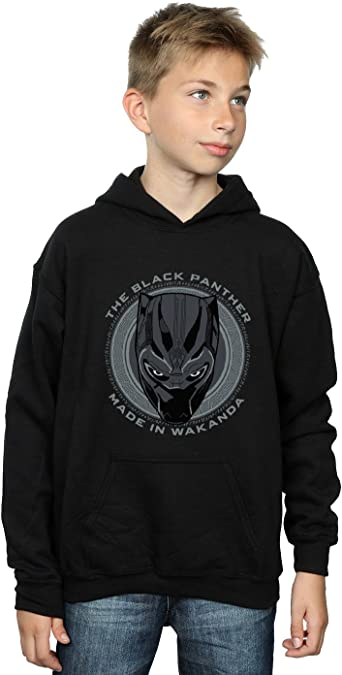 Marvel Boys Black Panther Made in Wakanda Hoodie