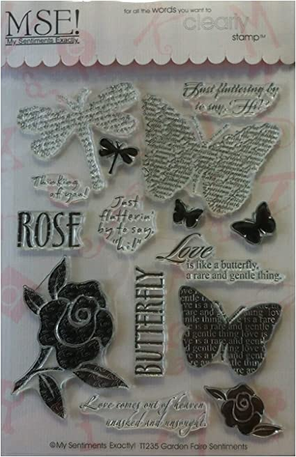 Clear My Sentiments Exactly My Sentiments Exactly Garden Faire Unmounted Rubber Stamp Set TT235 Ltd