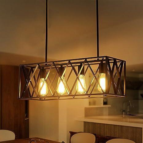 Vintage Industrial Iluminación colgante para cocina isla ...