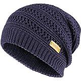 a176e52acf8dbf OMECHY Unisex Slouchy Beanie Hats Winter Warm Knit Skull Fleece Ski Cap 4  Color