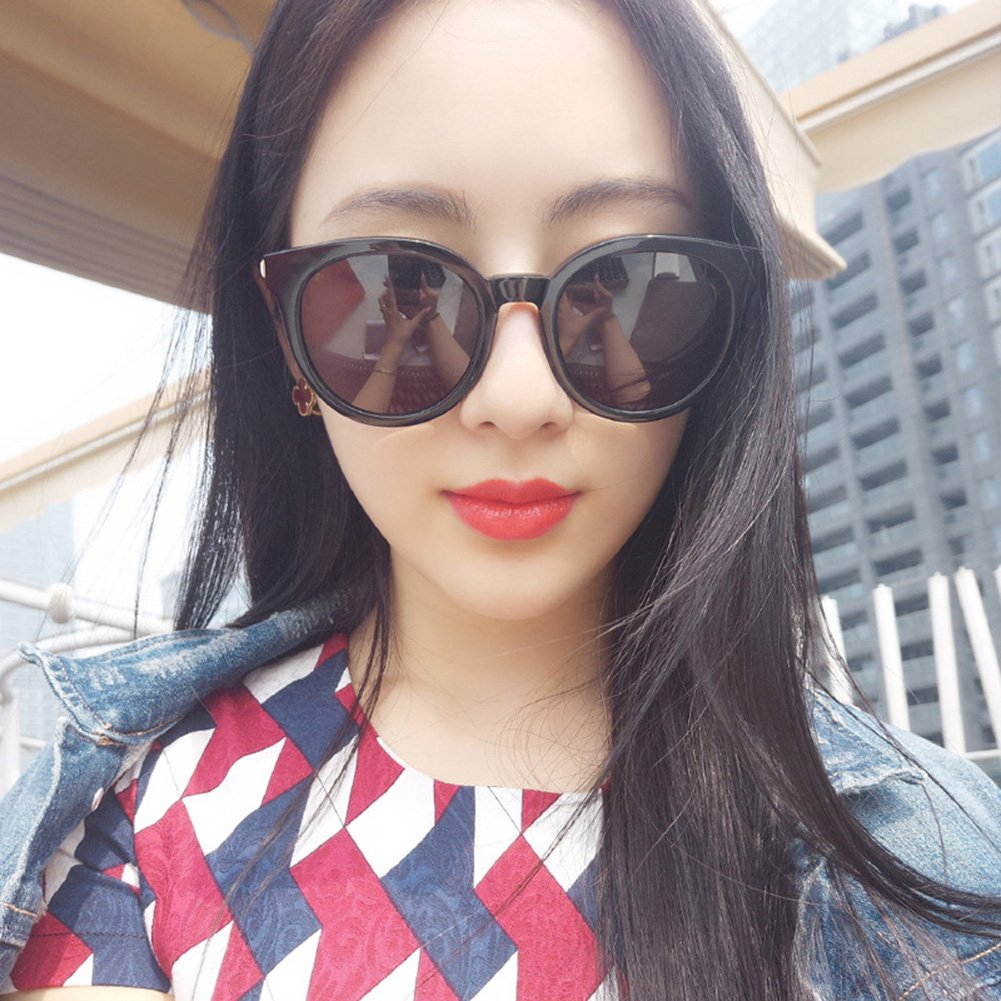 BEESCLOVER Woman Sunglasses Circular Transparent Colorful Film Fashional Sunglasses
