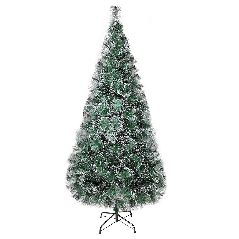 KARMAS PRODUCT 7 Ft Christmas Tree 295 Tips Decorate Pine Needles Tree White Dot Free Decoration Gift