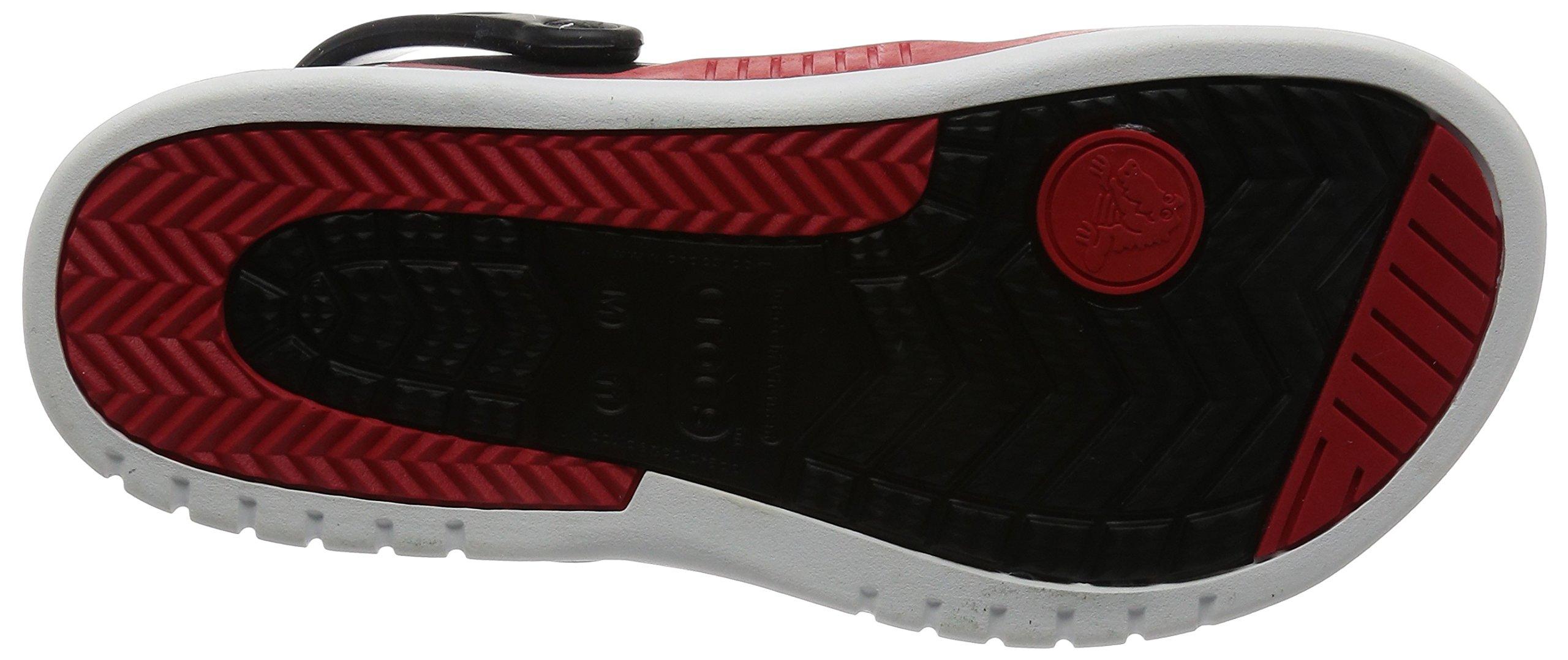 Crocs Men's 14300 Front Court Clog, Black/Red, 10 M US by Crocs (Image #3)