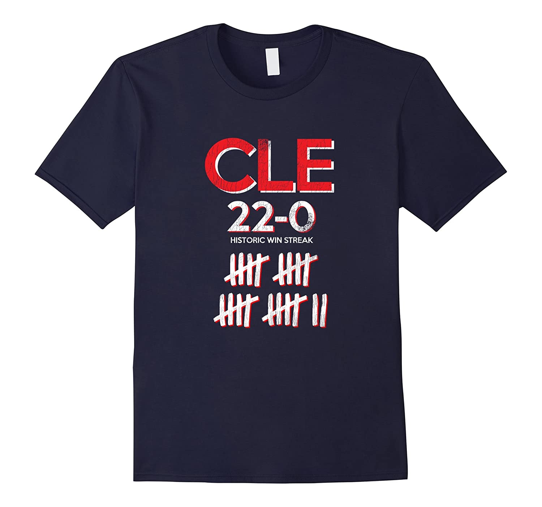 Vintage Cleveland Historic Win Streak 22-0 T-Shirt-BN