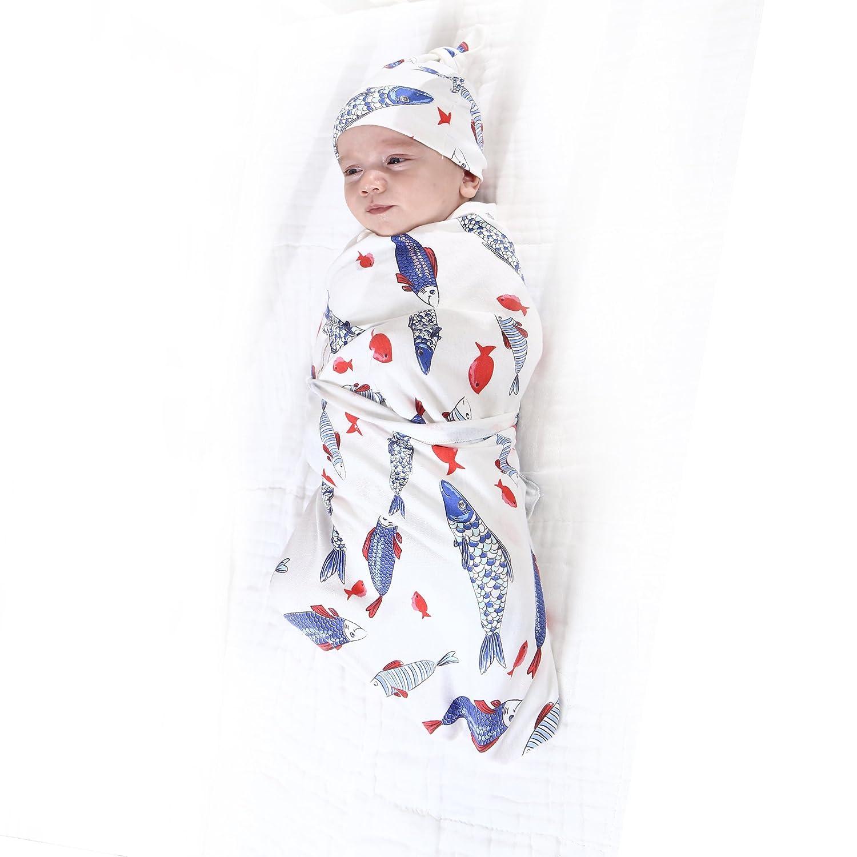 Manta para beb/é+conjunto de diadema,juegos de manta de tela de muselina de algod/ón reci/én nacido suave,juegos de regalo de ducha infantil Cactus