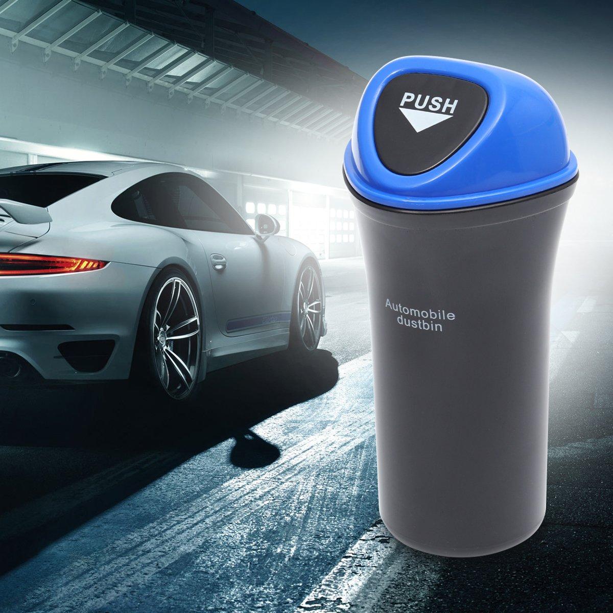 Blu LIOOBO Mini Car Trash Can Automobile Pattumiera Car Organizer Veicolo Cestino Bidone della Spazzatura Titolare della Tazza per Car Home Office
