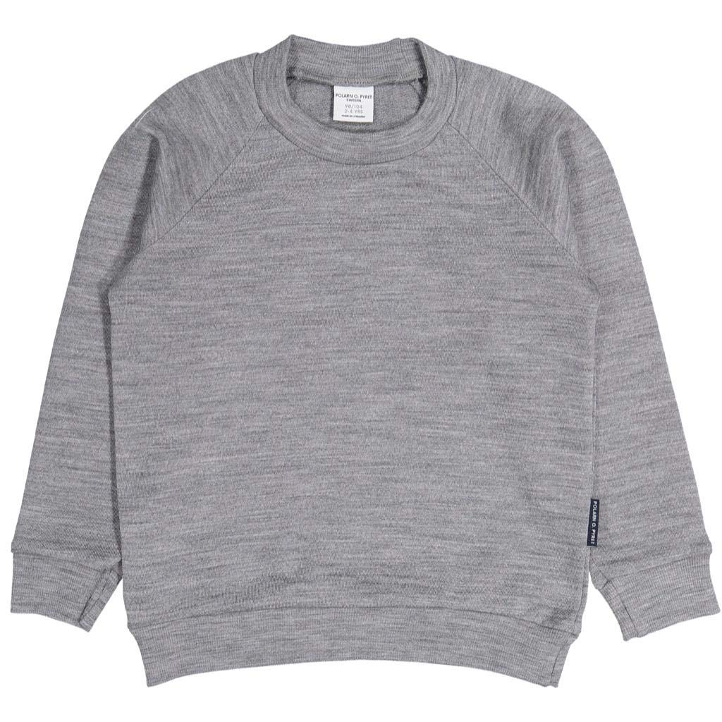 Polarn O. Pyret Wool Terry Pullover Sweater (2-6YRS) - Grey Melange/4-6 Years by Polarn O. Pyret