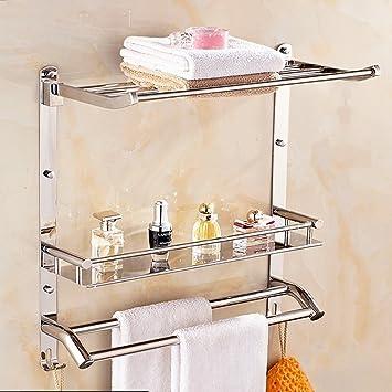 Aluminium Handtuch Ständer Wandmontage Home Bad Handtuchhalter Einzelne Bar Rack