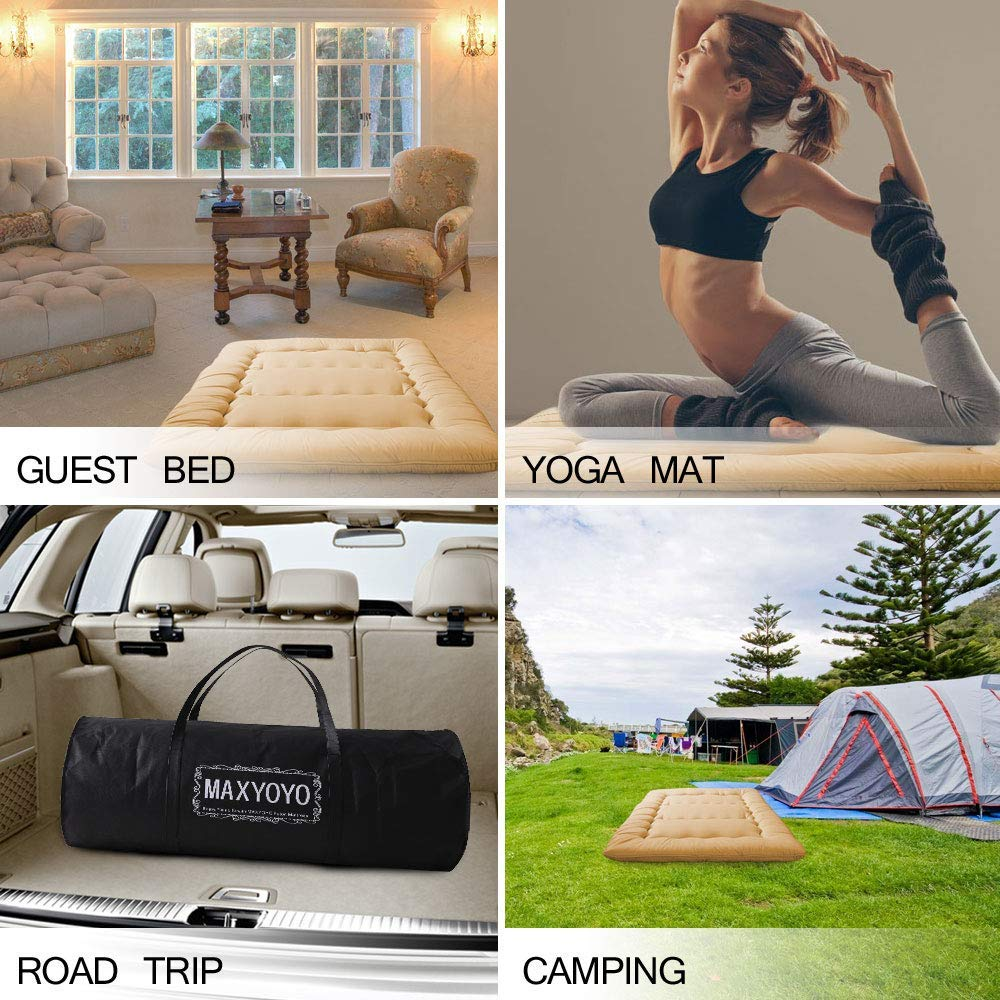 Uneeber Japanese Futon Foldable Roll Up Mattress Floor Sofa Bed for Kids Adults Sleep Travel Dormitory