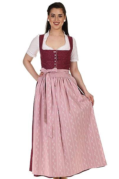 buy popular 9d92f 544cf Turi Landhausmode Damen Dirndl lang Trachtendirndl Baumwolle D911051 Berry  Rocklänge 95cm
