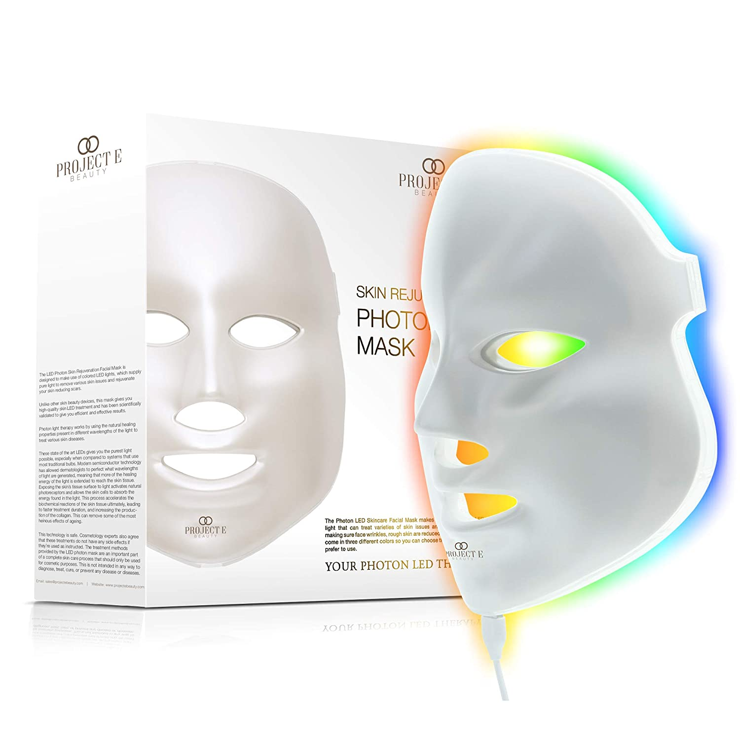 Project E Beauty LED Face Mask Light Therapy