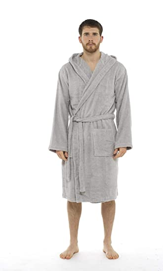 ef56028a30 Men Towelling Robe 100% Cotton Terry Towel Shawl Collar Bathrobe Dressing  Gown Bath Robe Perfect for Gym Shower Spa Hotel Holiday  Amazon.co.uk   Clothing