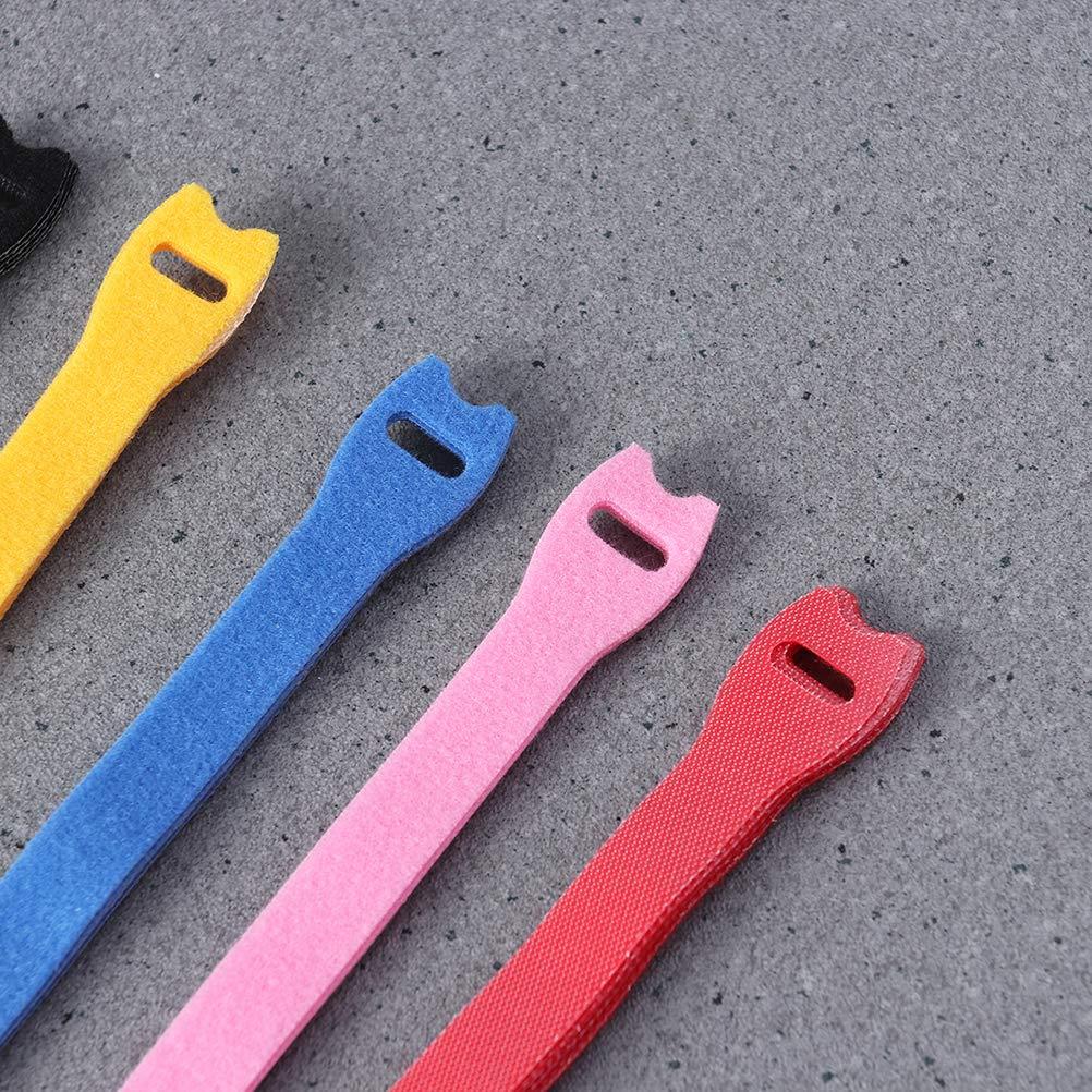 SUPVOX 48 unids Gancho y Lazo Strips Cintas Adhesivas de uniones de Cable Correas de Cable para la gesti/ón de Cables de sujeci/ón Cording
