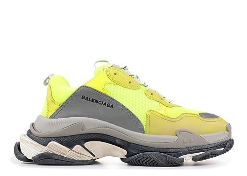 Balenciaga Triple S Sneakers Yellow Fluo Unisex Hombre Mujer Balenciaga Zapatillas: Amazon.es: Zapatos y complementos
