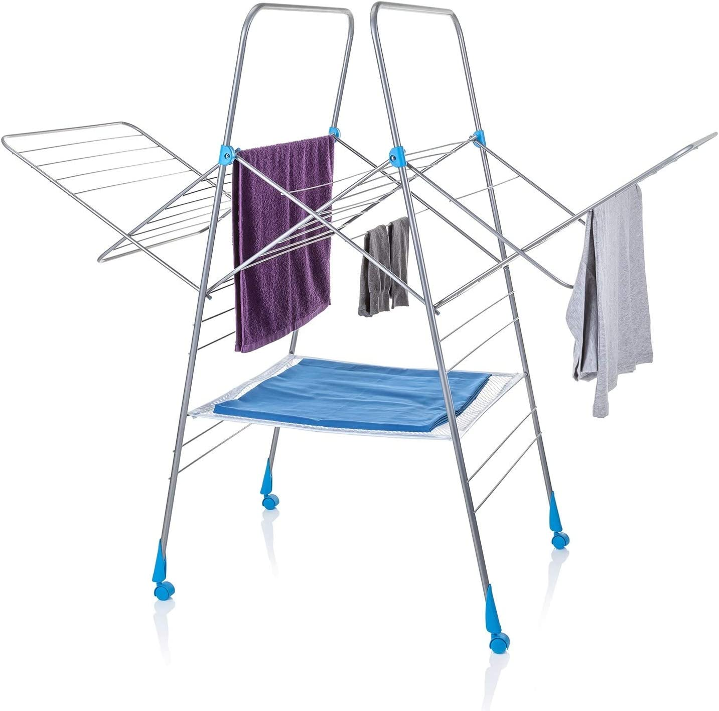 Minky Multidry Clothes Airer with 25 m of Drying Space, Metal, White, 25m