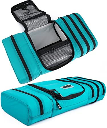 3fb1040bfb Amazon.com   Pro Packing Cubes Travel Toiletry Bag - Packs Flat To Save  Space - Waterproof Hanging Toiletries Kit For Men and Women   Beauty