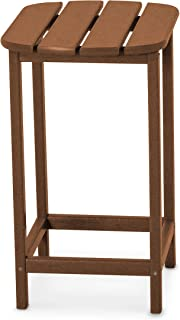 product image for POLYWOOD SBT26TE South Beach 26-Inch Counter Side Table, Teak